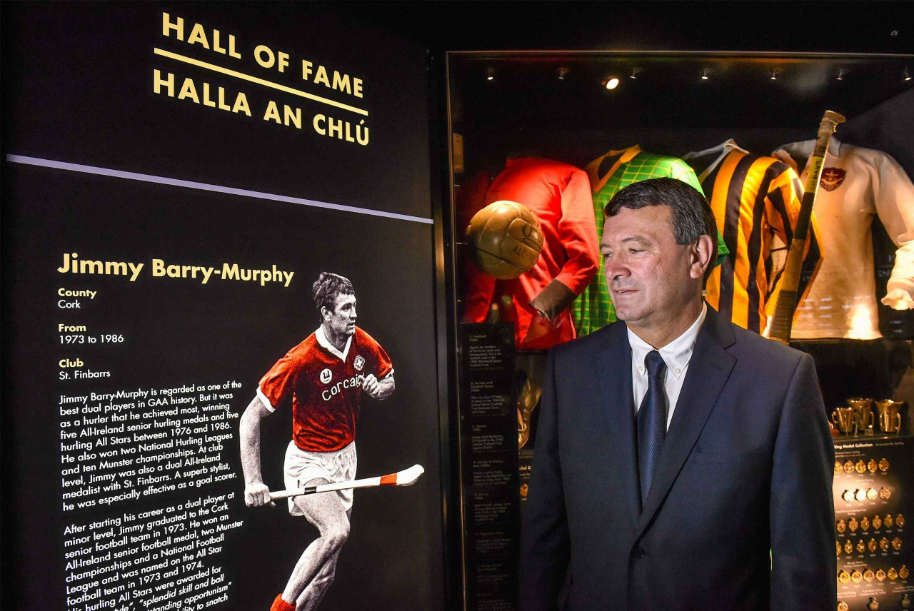 Former Cork dual star and manager, Jimmy Barry-Murphy at his induction into the GAA Museum Hall Of Fame. Murphy is one of the most iconic figures in Gaelic Games.