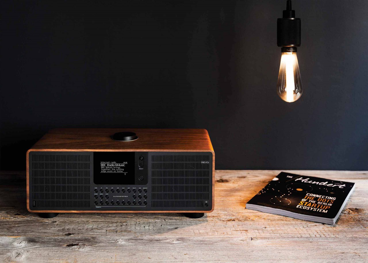 Revo radios are crafted using the finest materials and components. All-wood cabinets with anodised aluminium compliment their advanced electronics beautifully.