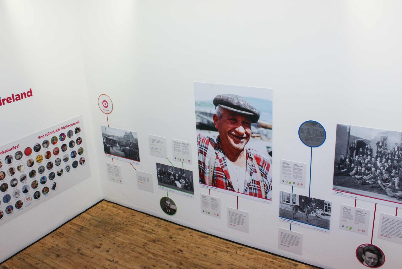 A view of one of the galleries in the Photo Detectives exhibition.