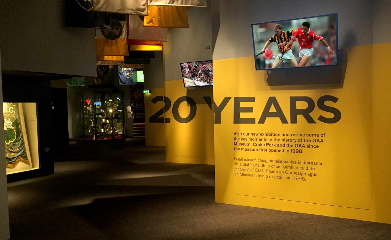This exhibition celebrated all that happened in Gaelic Games and at Croke Park since the GAA Museum launched twenty years ago.