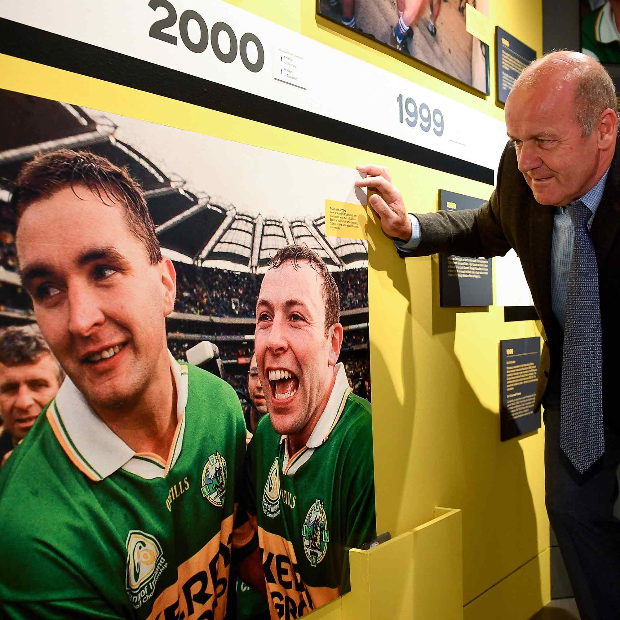Jack O Shea at the GAA Museum 20 Years Exhibition