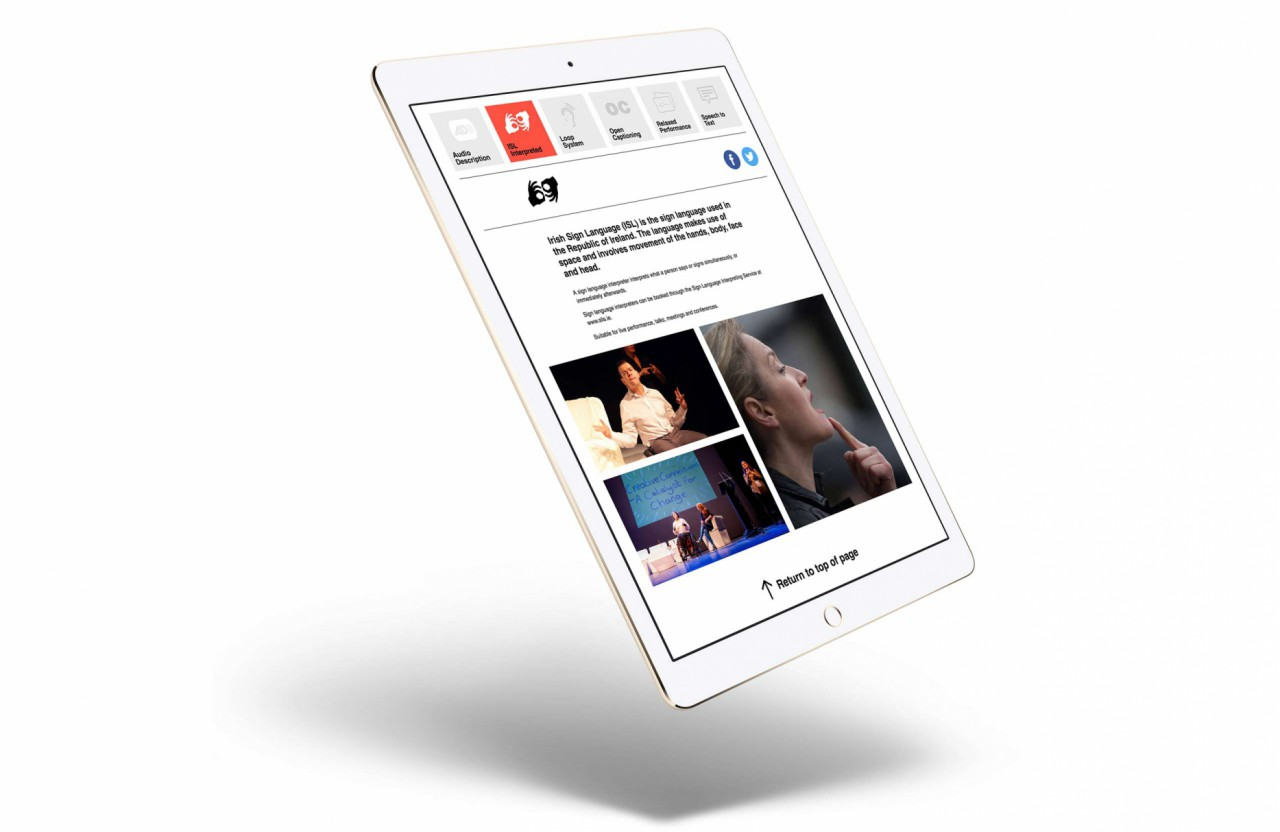 Image of the ADI Website on Tablet