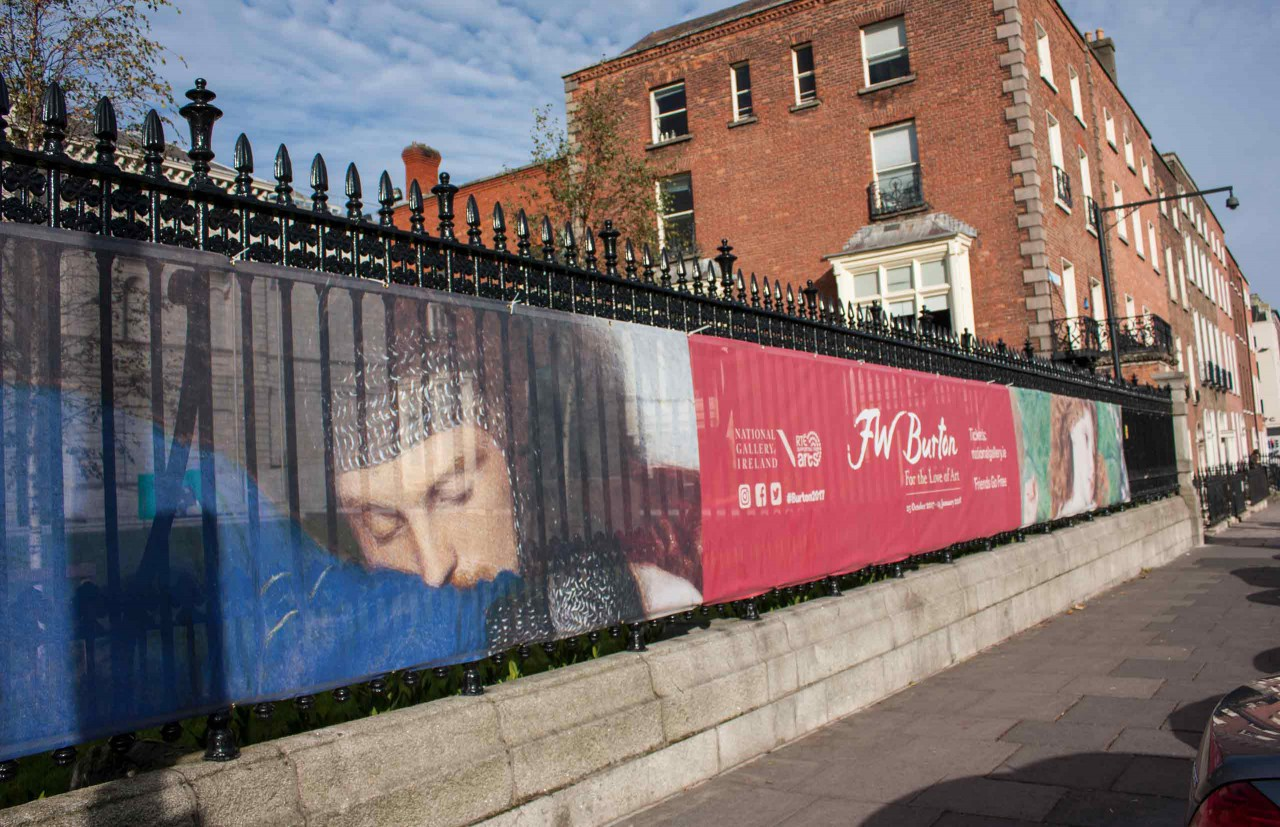 Image of the Railings Banner for Frederic William Burton: For the Love of Art exhibition