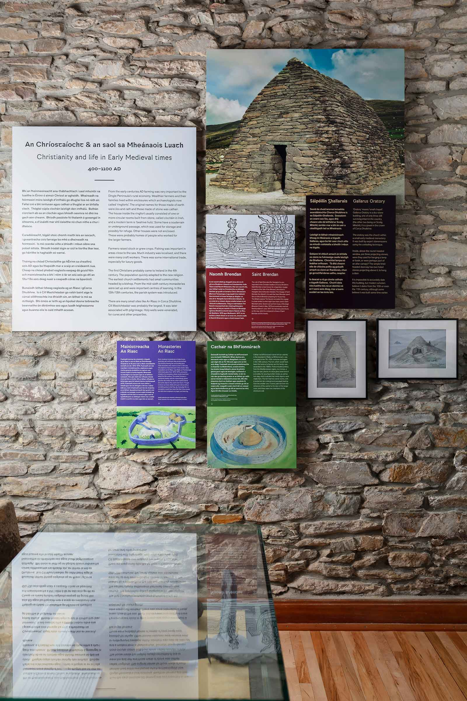 Christian Interpretive panels-at Dingle Peninsula Museum