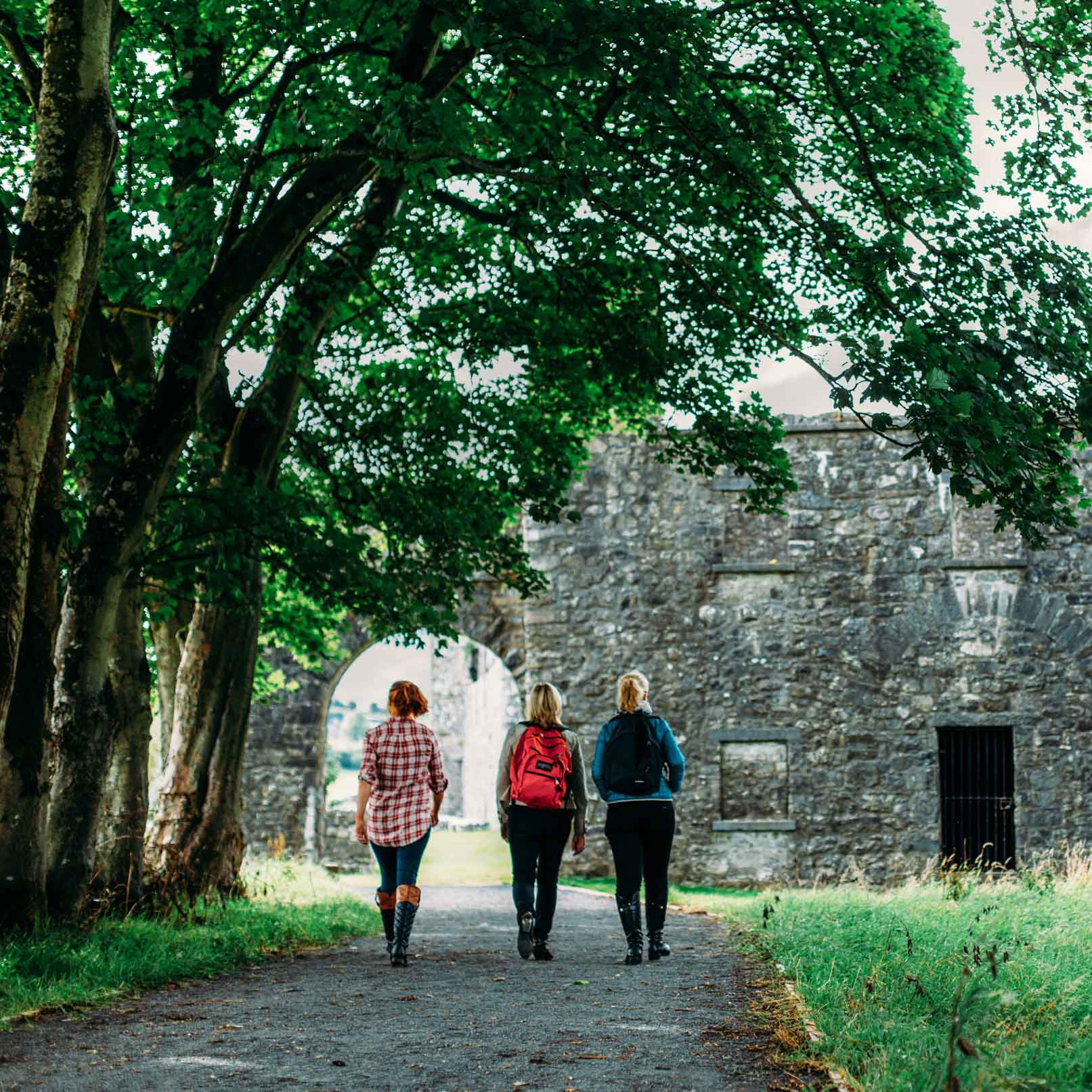 Visitors to Fore Abbey